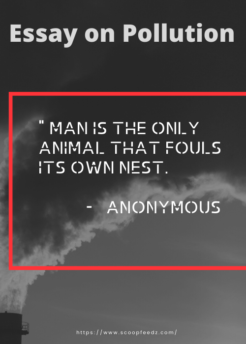 short essay on pollution quotes slogans on pollution for